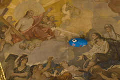 the celestial envoy (thank you, Jesus!) (luca19632 - Luca Cortese) Tags: roof italy rome roma church fun hilarious funny humorous italia nef colours colore frolic interior joke humor balloon iglesia s humour ceiling divine chiesa nave prank amusing luigi scherzo heavenly eglise italie dei volta techo interno globo celestial divertente plafond envoy fresque drole affresco balon broma palloncino giorno francesi blague godlike gracioso divin soffitto enviado divino umorismo navata barbapap sanluigideifrancesi inviato celestiale envoy