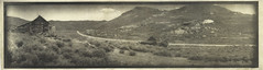 Bodie (intaglio) (efo) Tags: california bw panorama print etching bodie intaglio alternativeprocess gravure photogravure photopolymer mysteriouscamera