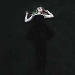 Fallen (Amelia Bramwell) Tags: black colour girl grass fashion angel dark model dress gothic emo fallen blonde