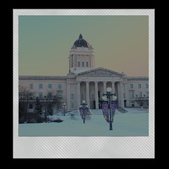 938-03 (Joe-Lynn Design) Tags: winter canada building heritage polaroid winnipeg manitoba government oldbuilding legislative