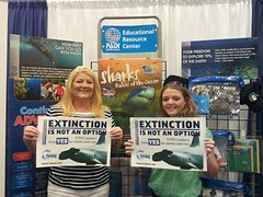 Dori Mirkow and Shark Whisperer Sara Brenes at Blue Wild Dive Expo in Fort Lauderdale (Project AWARE Foundation) Tags: padi cites projectaware sharkconservation cop16 cites4sharks