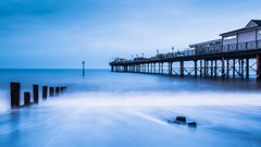 Blue Pier (the milster) Tags: longexposure morning sea pier nikon groyne teignmouth nikon1224mm d3100 nikond3100