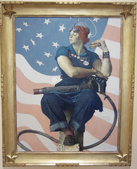 Rosie! (BrianinLR) Tags: woman art museum work painting war rosietheriveter flag rosie arkansas normanrockwell crystalbridges