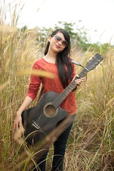 Reffy (clazirus) Tags: portrait music nature girl beautiful asian nikon guitar portraiture malaysia penang tallgrass d60 unohu clazirus