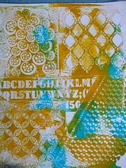 ghostprint (Chantal 61) Tags: stencils monoprint acrylicpaint gélatine peintureacrylique balzerdesign