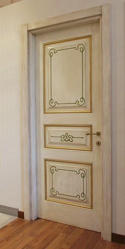 Porta interna Linea Opera decorata a mano