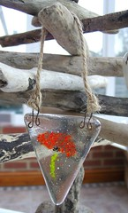 Poppy Bunting Sun Catcher (2) (Glittering Prize - Trudi) Tags: red glass poppy poppies bunting fused britcraft britishcrafters