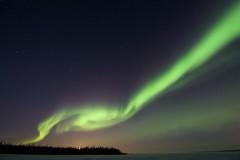 Aurora - March 1, 2013 (KyleWiTh) Tags: trees sky green night dark stars aurora northern northernlights auroraborealis yellowknife