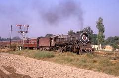 15037  Lohian Khas  26.10.93 (w. + h. brutzer) Tags: analog train nikon indian eisenbahn railway zug trains steam locomotive indien dampflok lokomotive eisenbahnen dampfloks webru lohiankhas