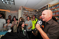 """KUPS Receiving the MTVu Woodie Award • <a style=""""font-size:0.8em;"""" href=""""http://www.flickr.com/photos/93313800@N02/8530110420/"""" target=""""_blank"""">View on Flickr</a>"""