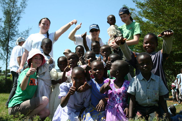 Africampers with the Ulamba Orphanage kids