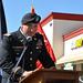 Lt. Col. Alex Deraney speaks during opening of El Monte Recruiting Center
