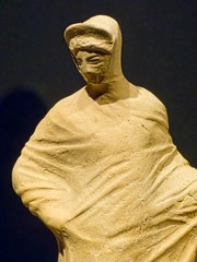 Closeup of Figure of a Veiled Woman Greek 2nd century BCE said to be from Capua, Italy Terracotta (mharrsch) Tags: italy woman female oregon portland greek veiled terracotta cloak figurine britishmuseum statuette capua tunic portlandartmuseum bodybeautiful 2ndcenturybce mharrsch
