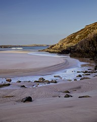 Ceannabeinne Beach Evening (Christopher Swan) Tags: sunlight beach death sand surf waves highland sutherland durness bereavement