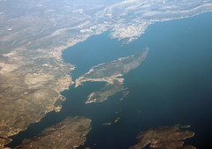 Split in Croatia (roomman) Tags: vienna wien city travel green plane island austria islands bay coast town airport view coat air transport flight jet croatia malta aerial international transportation airbus split airports runway adriatic vie adria mla a319 spu aereal airmalta kastela loww resnik luqa 2013 9h aej ldsp lmml 9haej