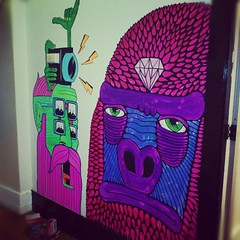 Sweet wall collab at @quaycollective with grizzle. Yew!! (Mulga The Artist) Tags: square squareformat amaro iphoneography instagramapp uploaded:by=instagram