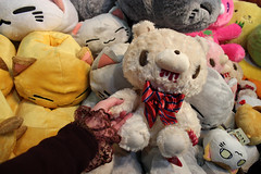 cutest Gloomy Bear EVER (House Of Secrets Incorporated) Tags: belgium belgique belgi plush teddybear mia convention plushie gloomybear laeken laken brusselsexpo madeinasia