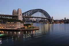 Sydney Harbour Bridge (oxfordblues84) Tags: bridge water reflections au sydney australia flags nsw newsouthwales hyatt sydneyharbour sydneyharbourbridge radianceoftheseas thecoathanger