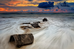 Waves of Love (krishmahaputra) Tags: sunset bali seascape beach rock canon indonesia landscape slowshutter waterscape