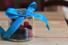 Candied fruit! (littledreamcatcher) Tags: blue red black fruit table blackberry candy sweet more bow candies gummy candied fiocco caramelle gommose