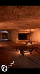 Wagons (C.-04) Tags: light underground subway wagon lumire catas rail limestone quarry catacombes calcaire quarries