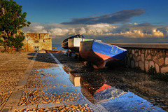 after the storm ( Explore ) (rinogas) Tags: italy cloud rain sunrise boat sicilia trapani photomix rinogas