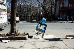 Chelsea melting newsstand (Dan Nguyen @ New York City) Tags: nyc newyorkcity art chelsea manhattan westvillage sidewalk gothamist