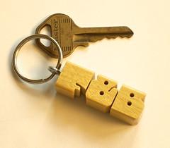 Pau Amarello Keychain (DustyNewt Scott) Tags: wood usa wooden keychain handmade name tag custom pau memento woodworking personalized fob yellowheart amarello madetoorder dustynewt