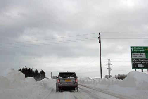 snow drifts Buxton