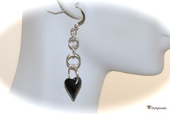 Blue Swarovski Crystal Heart Earrings (DJAjewels) Tags: sapphireblue crystalheart heartearrings