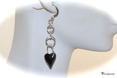 Blue Swarovski Crystal Heart Earrings (DJAjewels) Tags: sapphireblue crystalheart heartearrings