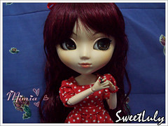 Mimia (SweetLuly) Tags: dolls polkadots pullip rement veritas redhaired mimia obitsu cancanwig 25cm rewigged pullipveritas malpink