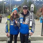 Stephanie Gartner and Tyler Werry (BC Ski Team/Fernie Alpine Ski Team) PHOTO CREDIT: Brian Werry