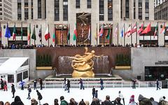People Ice Skating at Rockefeller Center, New York City, NY - 2013 (Patrick M. Hoey) Tags: street city nyc newyorkcity people urban ny newyork buildings automobile manhattan cab taxi iceskating 5thavenue rockefellercenter pedestrian sidewalk timesquare timessquare rockefeller