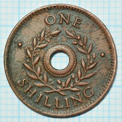 Internment Camp Token, Shilling (recto) (heritagefutures) Tags: world camp money japanese one coin italian war wwii bob australia ii german harvey canteen hay token pow shilling prisoner coinage chit rushworth 1s cowra loveday yanco interment myrtleford tatura marringup
