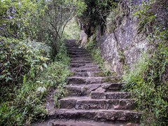 There's a lady (Charlie2012RTW) Tags: peru stairs caminodelinca
