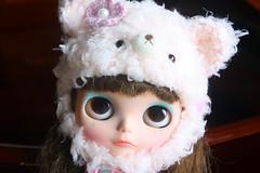 teddy bear hat for blythe