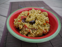2013-04-09 - Greek-Style Couscous - 0001 (smiteme) Tags: food vegan lemon vegetarian garlic couscous veganism spinach herbivore vegetarianism sundriedtomatoes kalamataolives meatless meatfree whatveganseat