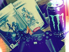 Playing those games as I wait for your call (Kes Heartgrenade) Tags: monster videogames playstation kingdomhearts