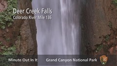 Grand Canyon National Park: Minute Out In It - Deer Creek Falls. (Grand Canyon NPS) Tags: water waterfall hiking oasis rafting backpacking boating riparian grandcanyonnationalpark rivertrip deercreekfalls rivercolorado tapeats thunderrivertrail