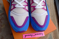 Nike Air Wmns Huarache Light 'White / Blue Crystal - Red Plum' (105031 101) ('93). (gooey_wooey) Tags: light vintage sneakers trainers nike og kicks huarache nikeair bluecrystal redplum huarachelight