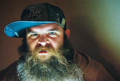 Kent! (Shane McCormick) Tags: life lighting blue light portrait people usa love film face hat america 35mm beard photography photo eyes texas shane live awesome photograph alive denton mccormick mccormic