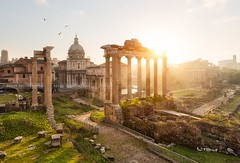 forum romanum, Rome (Beboy_photographies) Tags: italy rome sunrise de temple soleil ruins roman forum ruin italie lever leverdesoleil romanum vestige raomain