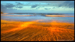Lava Flow at the Ho! (Nick Woodrow: Thanks for all of your comments) Tags: sunset sea orange beach reflections waves tide pebbles streetlighting northdevon nickwoodrow