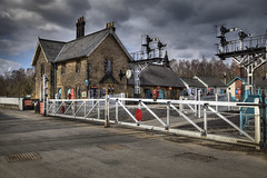Station gates (J Tys) Tags: sky station gates signals hdr levelcrossing grosmont nymr hdraddicted thebestofhdr hdrterrorist hdrworlds