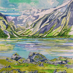 """<b>Spring in the Fjords-Berger</b><br/> Eckheart, #2006:07:02, Watercolor, Painting<a href=""""http://farm9.static.flickr.com/8106/8654481031_c998848e34_o.jpg"""" title=""""High res"""">∝</a>"""