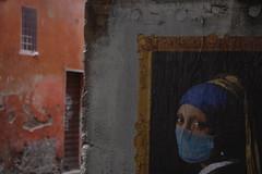 Perla e SBAGLIATO. (RO.BO.COOP.) Tags: street streetart rome pasteup poster mask ermine urbanart di vermeer perla posterart raffaello leonardodavinci arteurbana pearlearring orecchino robocoop orecchinodiperla smogproject