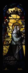 Shrewsbury, Shropshire, St. Mary the Virgin, St. Catherine's chapel, stained glass window (groenling) Tags: uk greatbritain england window glass saint angel shropshire britain mary stainedglass shrewsbury gb crown coronation cct stmarythevirgin shawm stcatherineschapel mmiia
