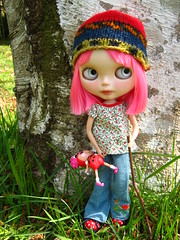 IMG_3230...Amor has explored the woods today with her dolly.