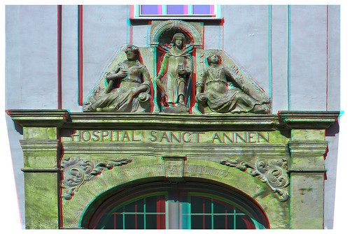 Hospital Sanct Annen of Quedlinburg 3D ::: DRi Anaglyph Stereoscopy